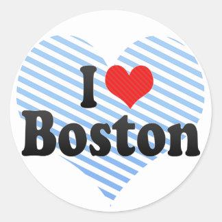 I Love Boston Classic Round Sticker