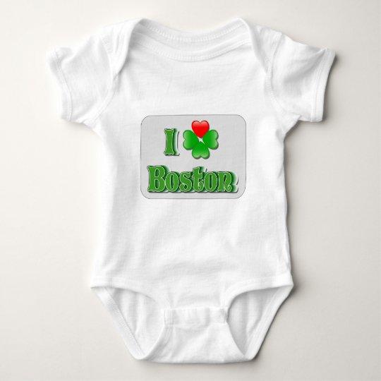 I Love Boston - Clover Baby Bodysuit
