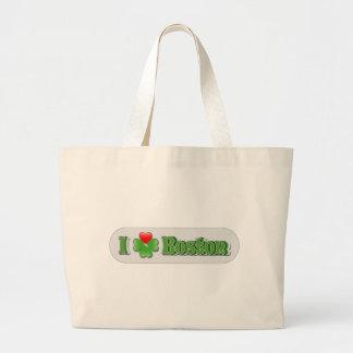 I Love Boston - Clover Large Tote Bag