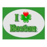 i Love Boston - Clover Postcards