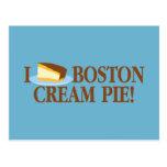 I Love Boston Cream Pie Post Cards