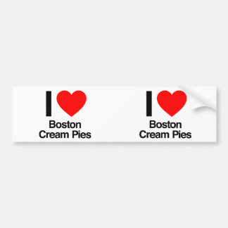 i love boston cream pies bumper stickers