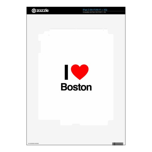 i love boston decal for iPad 2