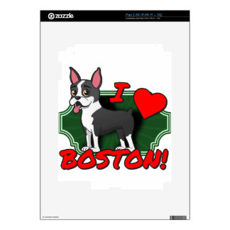 I Love Boston Decals For The iPad 2