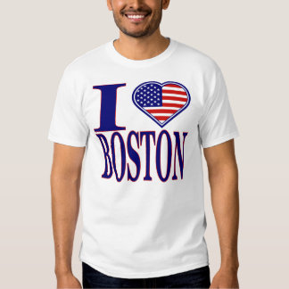 I Love Boston Forth Of July Edition T-Shirt