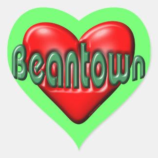 I Love Boston Heart Sticker