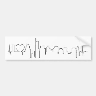 I love Boston in an extraordinary ecg style Bumper Stickers