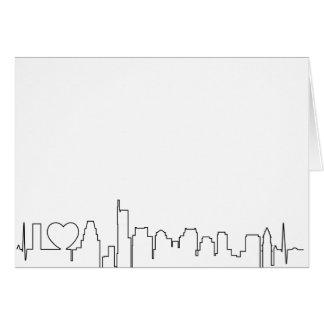 I love Boston in an extraordinary ecg style Card