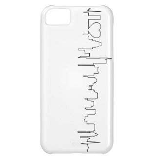 I love Boston in an extraordinary ecg style Cover For iPhone 5C
