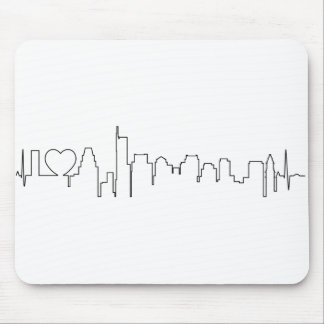 I love Boston in an extraordinary ecg style Mouse Pad