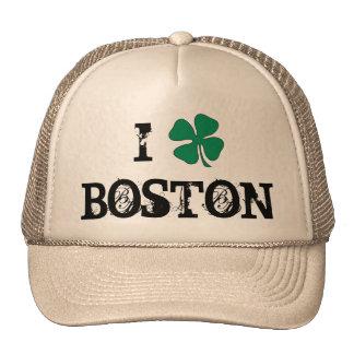 I Love Boston Irish Trucker Hat