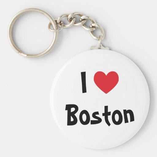 I Love Boston Keychain