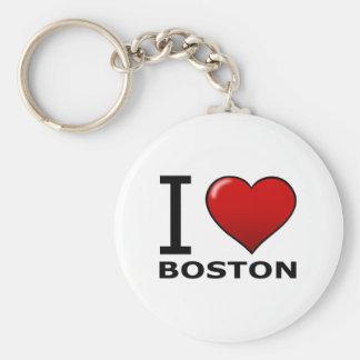 I LOVE BOSTON,MA - MASSACHUSETTS KEYCHAINS