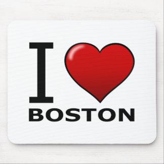 I LOVE BOSTON,MA - MASSACHUSETTS MOUSE PAD