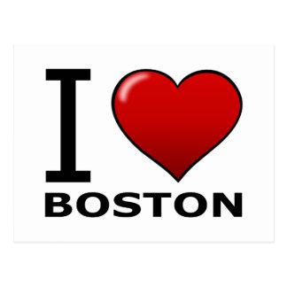 I LOVE BOSTON,MA - MASSACHUSETTS POSTCARD