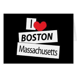 I Love Boston Massachusetts Card