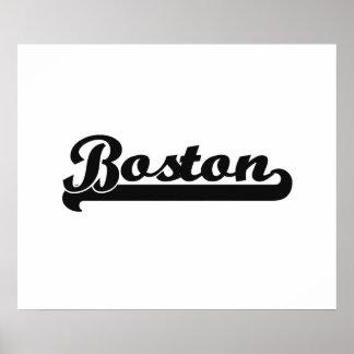 I love Boston Massachusetts Classic Design Poster