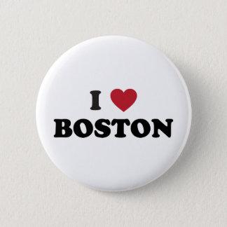 I Love Boston Massachusetts Pinback Button