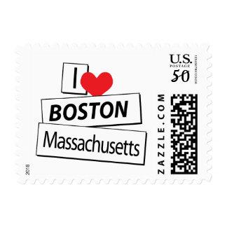 I Love Boston Massachusetts Postage