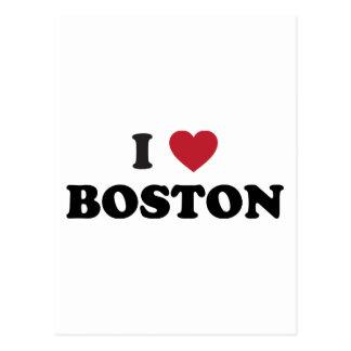 I Love Boston Massachusetts Postcard