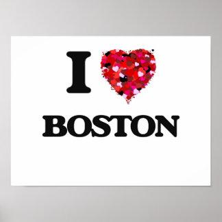 I love Boston Massachusetts Poster