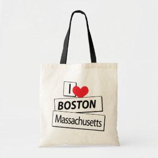 I Love Boston Massachusetts Tote Bag
