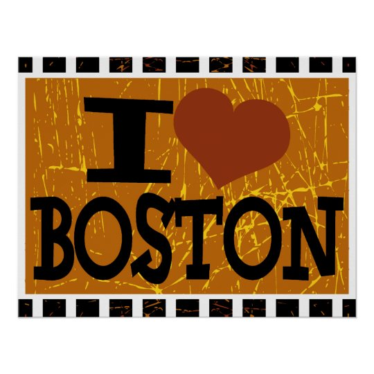 I love Boston - Pop art 2 Poster