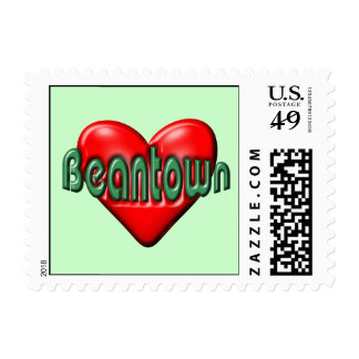 I Love Boston Postage Stamp