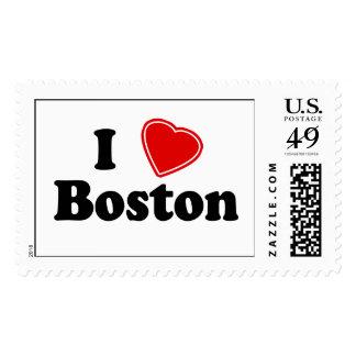 I Love Boston Stamps