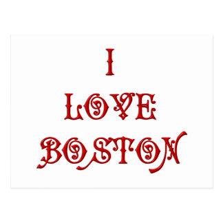 I love Boston Post Card