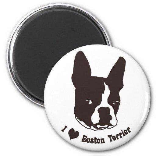 I love Boston Terrier Fridge Magnet