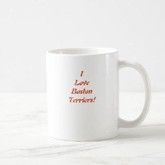 I Love Boston Terrier Mug