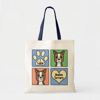 I Love Boston Terriers Tote Bag