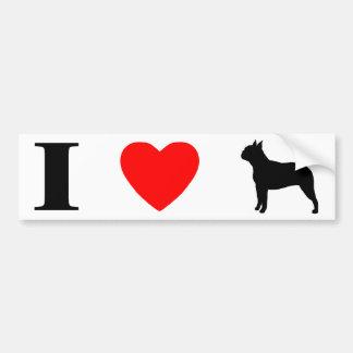 I Love Boston Terriers Bumper Sticker