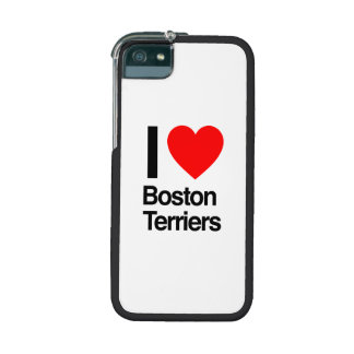 i love boston terriers cover for iPhone 5/5S