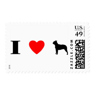 I Love Boston Terriers Postage Stamps