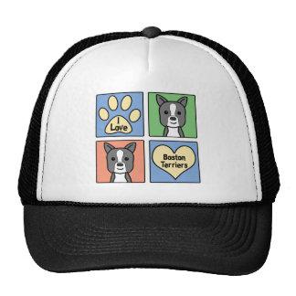 I Love Boston Terriers Trucker Hat
