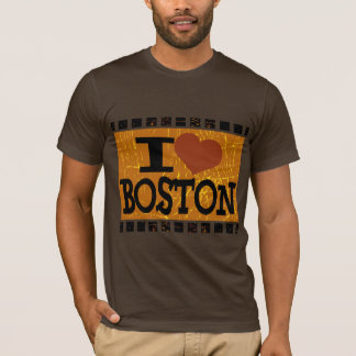 I love Boston - Vintage Boston T-Shirt