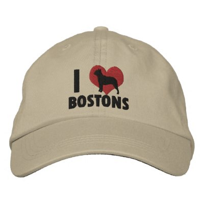 I Love Bostons Embroidered Hat