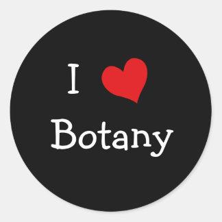 I Love Botany Classic Round Sticker