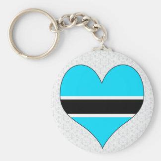 I Love Botswana Keychains