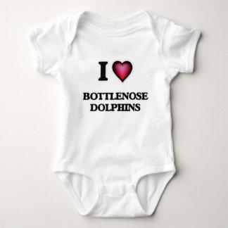 I Love Bottlenose Dolphins Baby Bodysuit