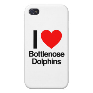 i love bottlenose dolphins iPhone 4/4S cover