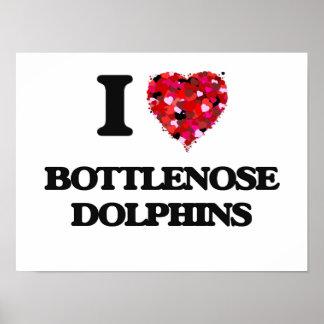 I love Bottlenose Dolphins Poster