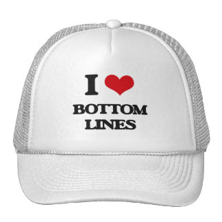 I Love Bottom Lines Mesh Hats