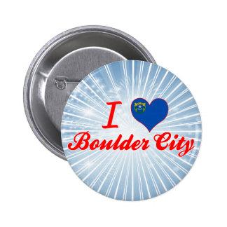 I Love Boulder City, Nevada Buttons