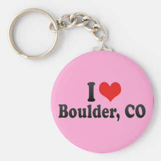 I Love Boulder, CO Keychains