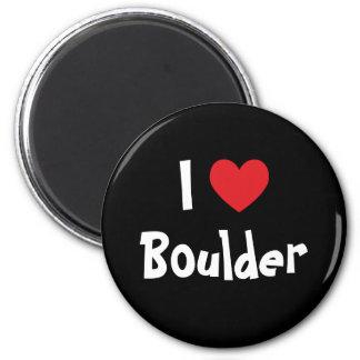 I Love Boulder Magnet
