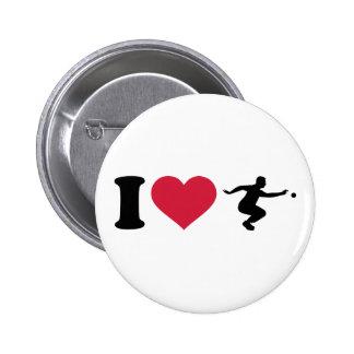 I love Boule Boccia Player 2 Inch Round Button
