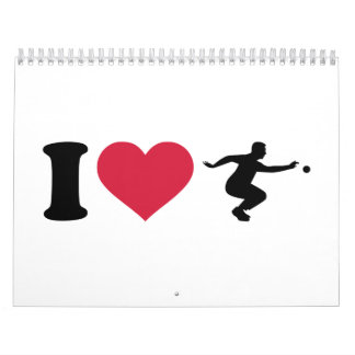 I love Boule Boccia Player Calendar